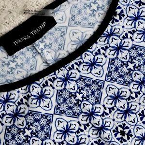 Ivanka Trump blue blouse